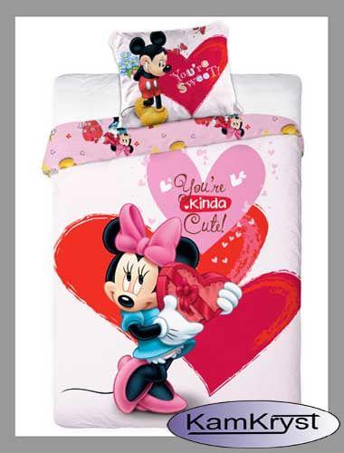 Pościel z Myszką Minnie i Myszką Miki z kolekcji pościeli licencyjnych Faro