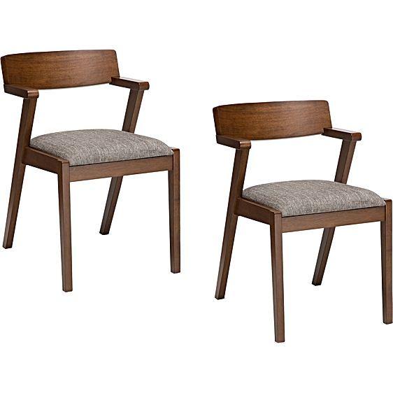 Zola Pebble Grey Dining Chair (Set of 2) by North Hem   Zanui