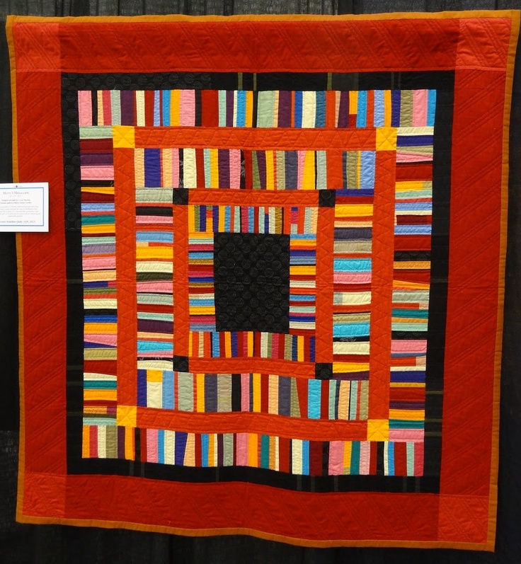 Gwen Marston exhibit quilt spotted at AQS 2012 (Grand Rapids, Michigan), photo by Mama Spark
