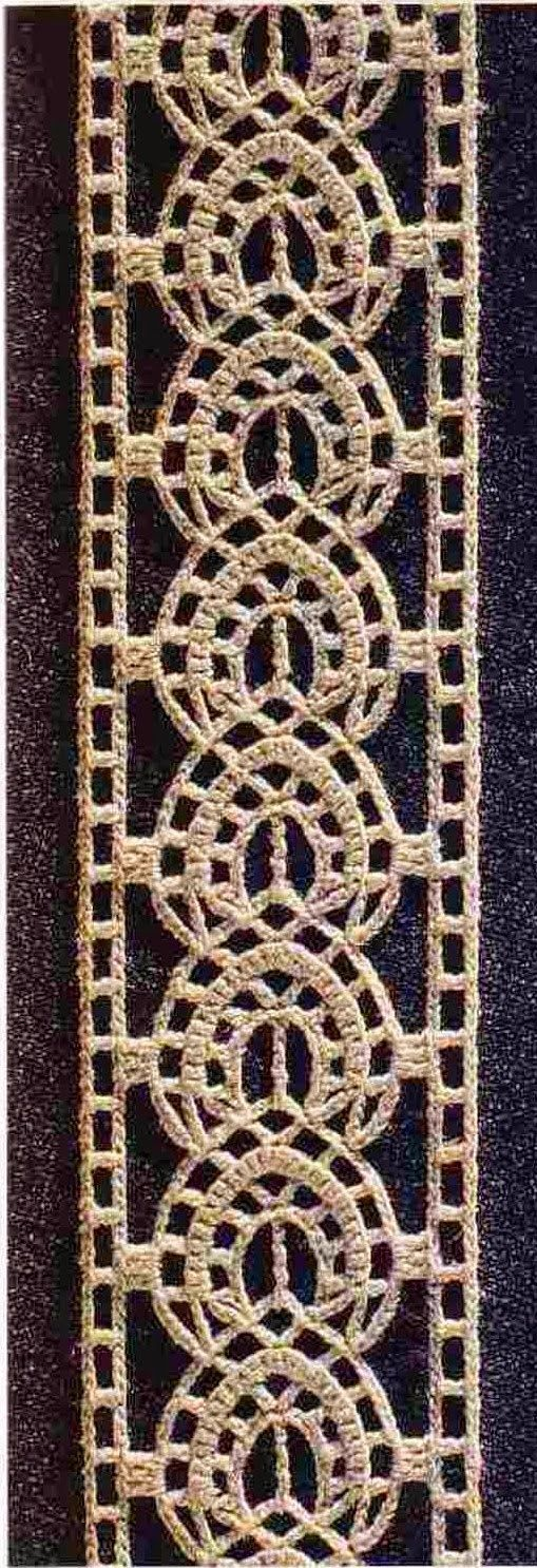 Ivelise Hand Made: Tirinhas Or inset Lindo De Crochet