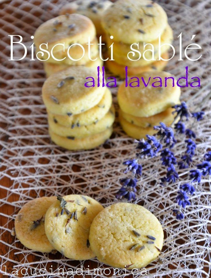 biscotti sablé alla lavanda | La Cucina di Monica