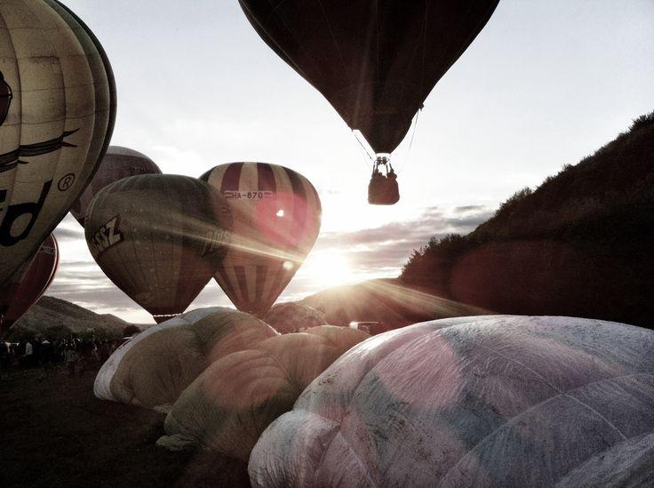 Hot air balloon festival in Sovata, Romania.