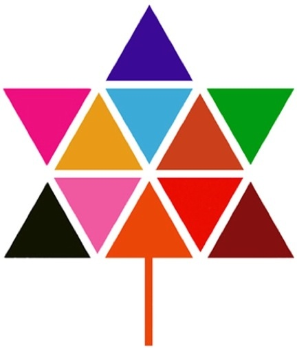 1967, Canada celebrated its 100th birthday. This was the country's logo for the Centennial.