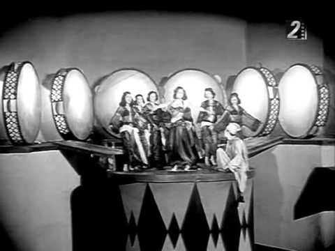Samia Gamal dancing Ah ya zein  من فيلم رقصة الوداع 1954 مقام هججز   From the film, Raqsat al-Wadaa 1954