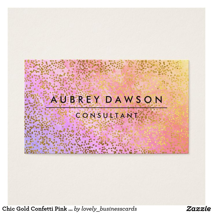 Chic Gold Confetti Pink Purple Blend Business Card #makeupartist #personalstylist #cosmetologist #designstudio #brandmanager #glamour #fashionconsultant #confetti #dots #eventmanager #professional #fashionista #consultant #fashionmodel #manicurist #professionals #hairstylist #photographer #elegant #modern #artist #salon #designer #colorful #trendy #stylish #graphic #eyecatching #bold #publicist #cosmetics #sophisticated #couture #boutique #chic #gold #polkadots #home #entrepreneur