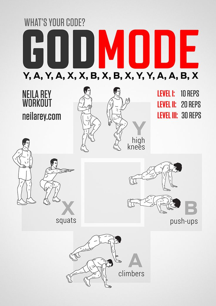 """GodMode Workout. Tried this on level 1: good workout! Can't wait to """"level up"""". I remember trying to put in the """"GodMode"""" code at the beginning of Star Wars for the Super Nintendo!"""