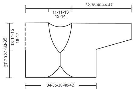 """DROPS Klein vest in ribbelst van """"Alpaca"""" met een gehaakte rand van """"Silke Alpaca"""". ~ DROPS Design"""