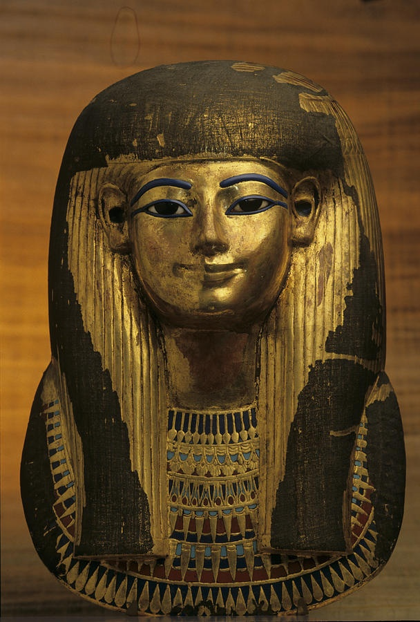 The gilded funerary mask of Tut's great-grandmother, Tuyu
