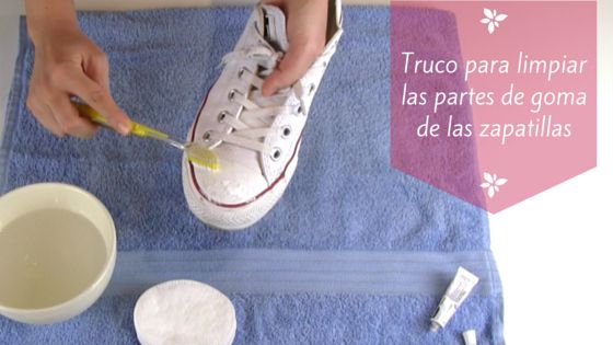 Truco para limpiar la puntera y los bordes de las suelas de sneakers y Converse.