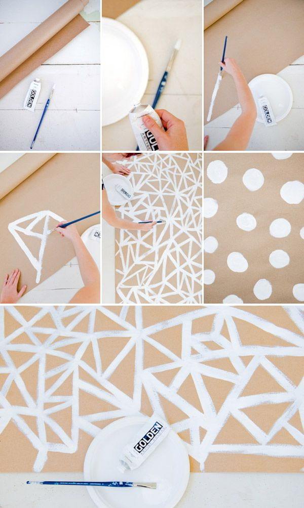 Geometric Paper Runner  Wrapping Paper Perhaps