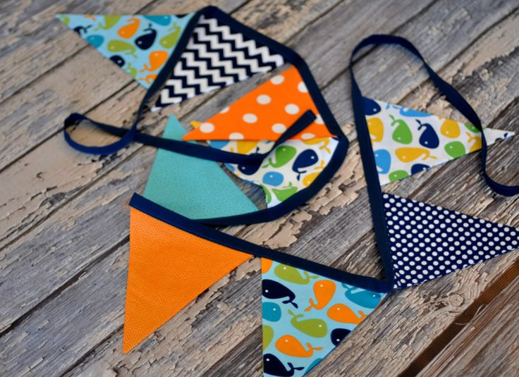 Nautical Under the Sea Bunting Flag Banner - Urban Zoologie Whales ...