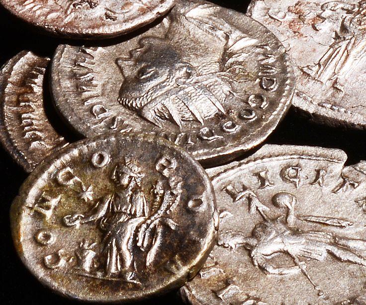 Deel van de Romeinse muntschat
