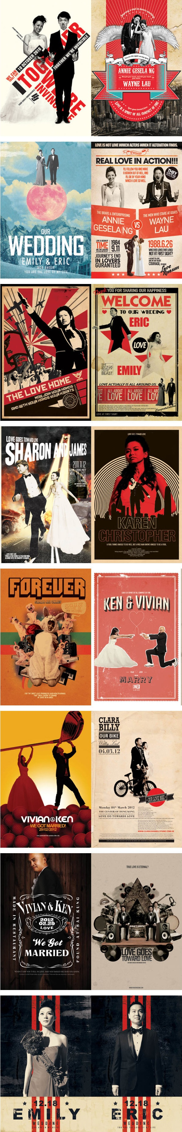 37 best Pop, mod weddings images on Pinterest | Wedding stationery ...