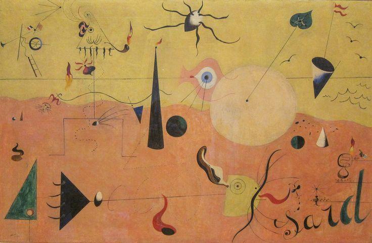 Joan Miró, The Hunter (Catalan Landscape), 1923-24, MOMA | by Sharon Mollerus