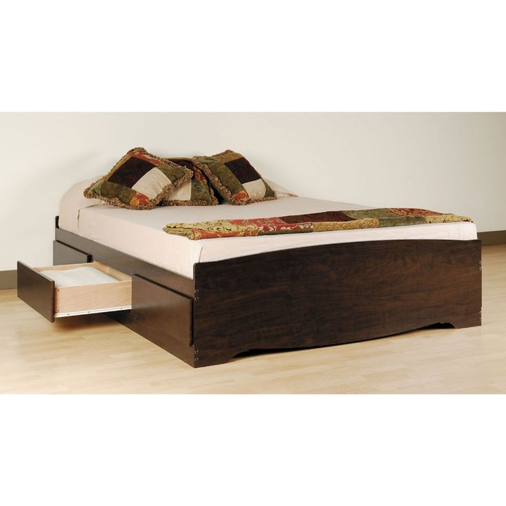 prepac espresso queen mateu0027s platform storage bed with 6 drawers beyond the rack
