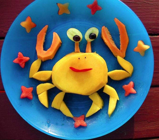 On en pince pour ce gouter fruité :D #kiri #recette #snack #cute #food #dessert #gouter #fun #rigolo #crabe #animaux