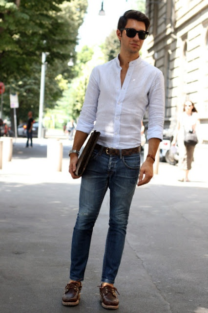 Great White Shirt And Blue Jeans Who Can Go Wrong Mens