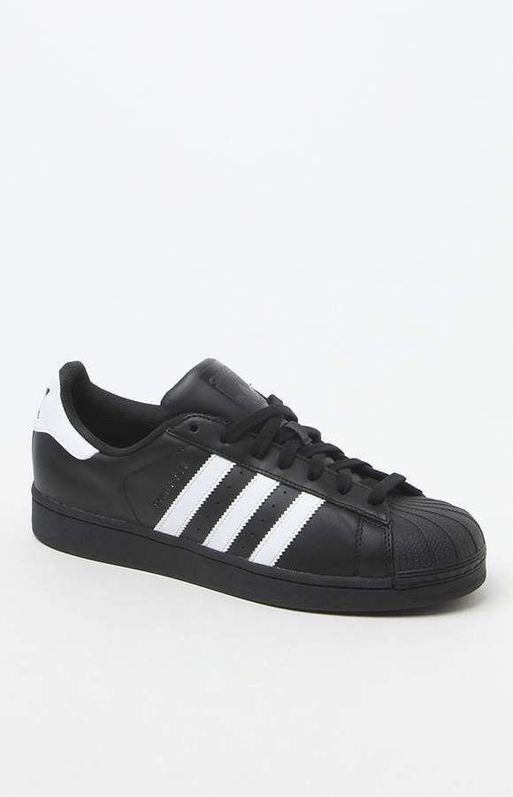 adidas Black \u0026 White Superstar Shoes in