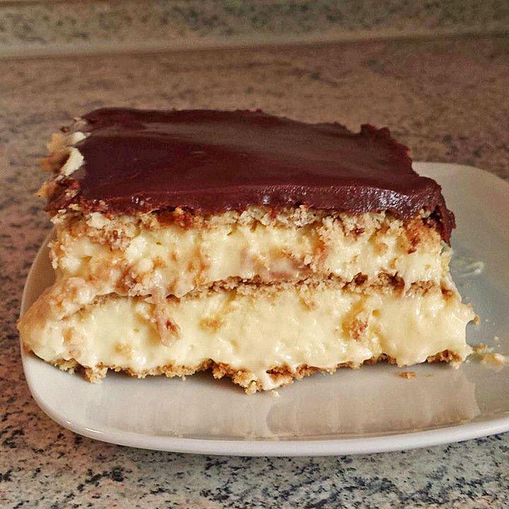 Eclair-Kuchen, ein gutes Rezept aus der Kategorie Backen. Bewertungen: 19. Durchschnitt: Ø 4,3.