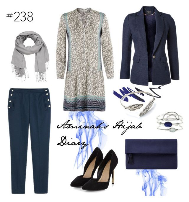 """#238 Blue Marine"" by aminahs-hijab-diary ❤ liked on Polyvore featuring maurices, John Lewis and Accessorize"