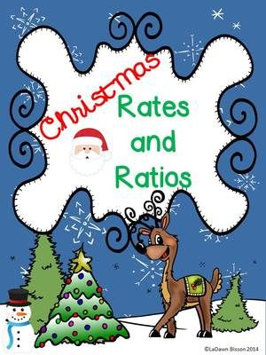 Christmas Rates and Ratios from Math From My Angle on TeachersNotebook.com -  (12 pages)  - This file contains 2 no prep, ready to go printables that allow students the opportunity to practice rates and ratios.  Also included are colorful pages for class posters.
