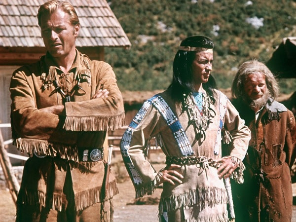 Lex Barker, Pierre Brice and Ralf Wolter
