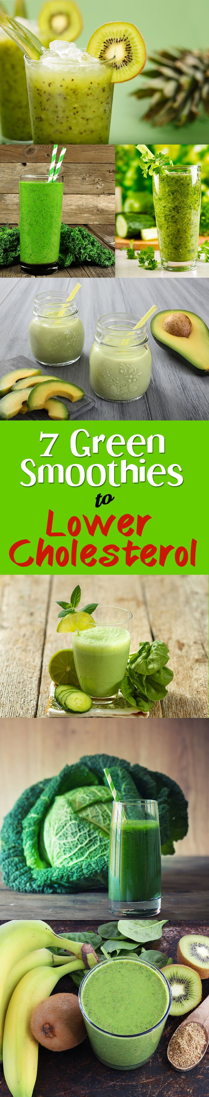 7 green smoothies to lower cholesterol