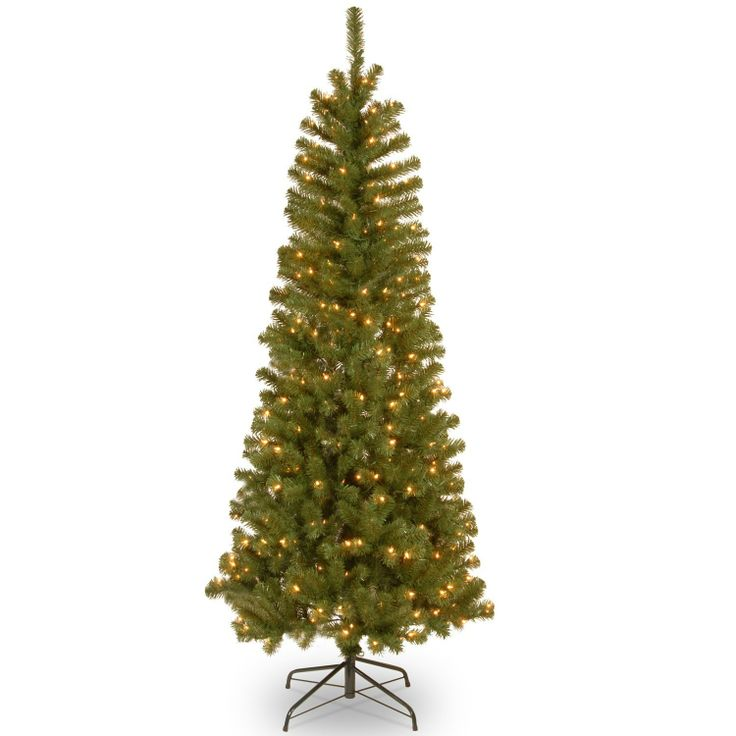 National Tree Alberta Spruce with 300 Twinkle Lights, 6.5-Feet, Clear