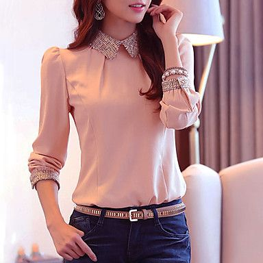 Women's Fashion Sweet Elegant Chiffon Blouse (More Colors) - BRL R$ 41,01