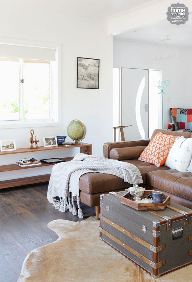 Entry living room 3 zones in one the coffee table trunk for Sofa table rules