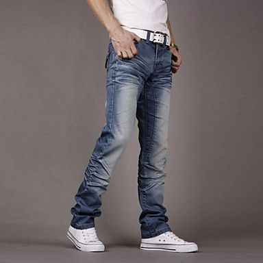 Men's Korean New Fashion Casual Bodycon Long Jeans – EUR € 33.09