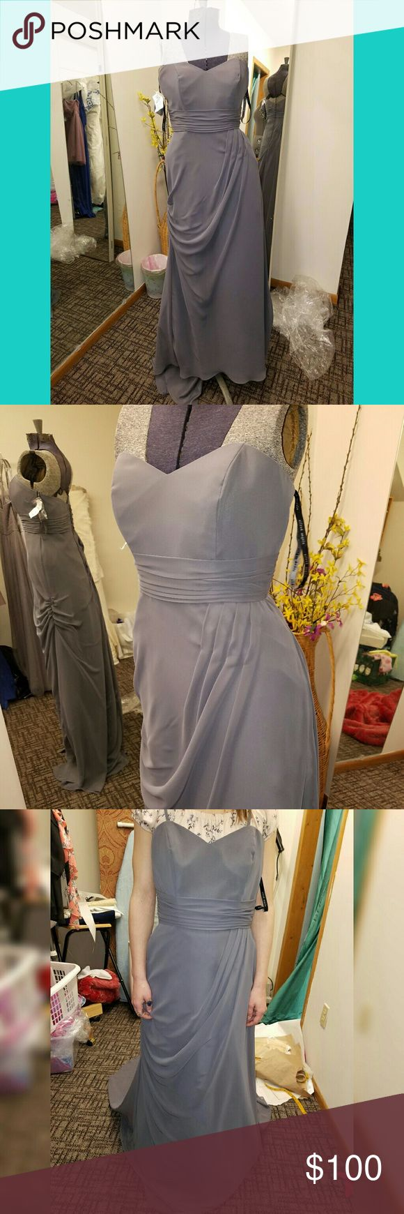 Gorgeous charcoal gray formal dress! Has beautiful gathering stitches in the right places for great accents to a woman's curves! Alfred Angelo Dresses Wedding