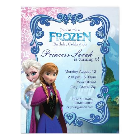 Frozen Birthday Party Invitation - click to get yours right now!