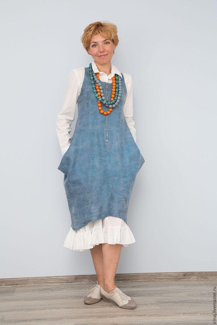 """Купить валяный сарафан """"Алена"""" - платье, платье валяное, платье авторское, платье ручной работы"""