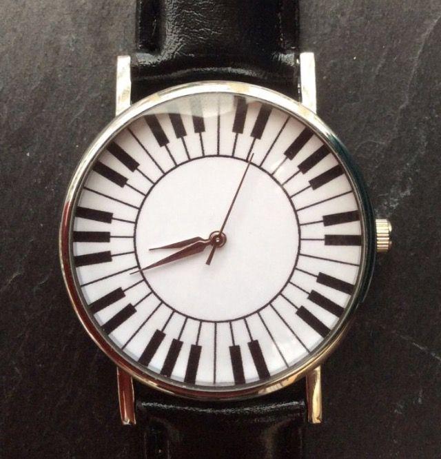 Black Faux Leather Strap, Women's Wristwatch - Piano Keys #black #fauxleather #leather #women #ladies #watches #watch #wrist #wristwatch #piano #key #keyboard #music #christmas #xmas #present http://m.ebay.co.uk/itm/Black-Faux-Leather-Strap-Quirky-Women-Wrist-Watch-Music-Piano-Ladies-Xmas-/282164314308?nav=SELLING_ACTIVE