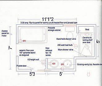 Bathroom Remodel Floor Plans