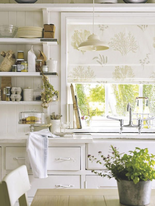 Una #cocina decorada con un encantador estilo #rústico chic.