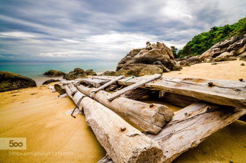 Cham Island Vietnam. by gregoryboue  beach beautiful cham island cloud color landscape long exposure rock sand sea sky travel vietnam wat