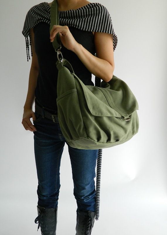 CHRISTMAS BIG SALE Now On - 25% off  // Daniel in Smoke Green // Messenger / tote / Diaper bag / Handbag / For Her / Women