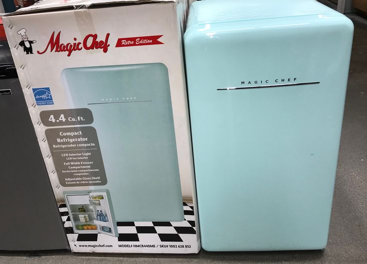 Magic Chef Retro Mini Fridge -for Olive. Home Depot. Red