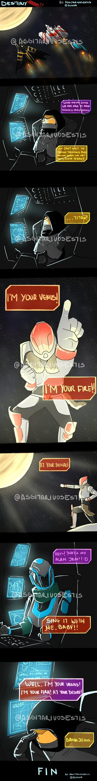 I heard the trailer song from Destiny in my Spotify, and so I made this doodle. I kind of like it very much, I was thinking if I should make more doodle random things of Destiny, since is one of th...