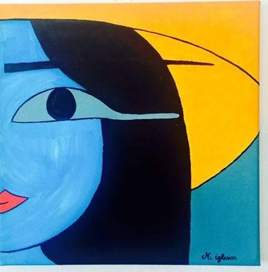 Painting by Marta Iglesias Blue Collection