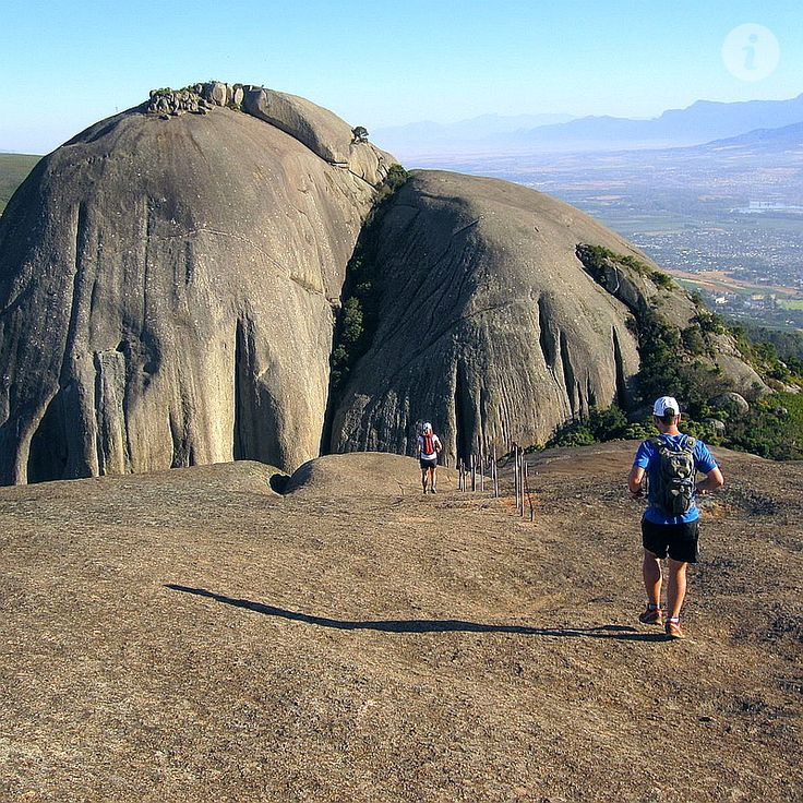 Hike to Paarl Rock.  Second biggest granite dome in the world, but the biggest surrounded by vineyards.