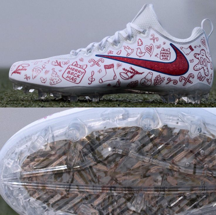 NFL Odell Beckham Jr custom Christmas Nike cleats