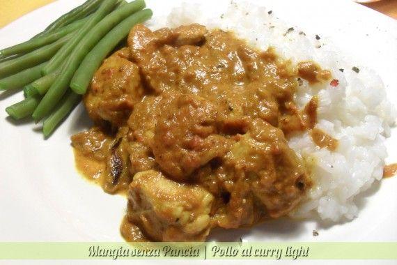 Pollo al curry light, ricetta etnica, Mangia senza Pancia