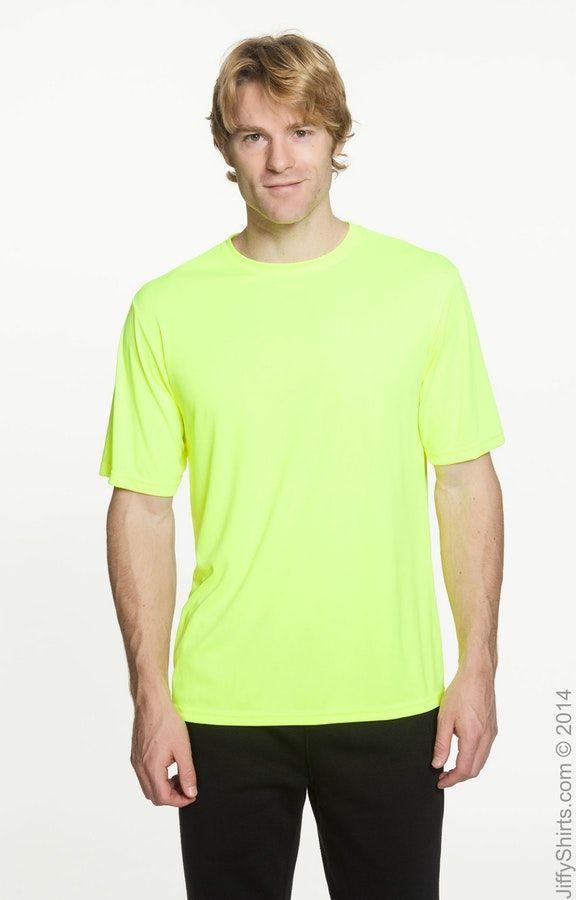 A4 N3142 High Viz Safety Yellow Men S Cooling Performance T Shirt