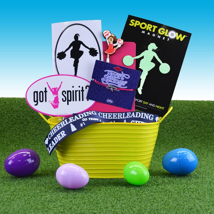 79 best sports easter baskets images on pinterest eggs fill and arm with original cheer easter gifts including a pre filled easter basket with hand picked cheer gifts celebrate easter in style with a special cheerleader negle Choice Image
