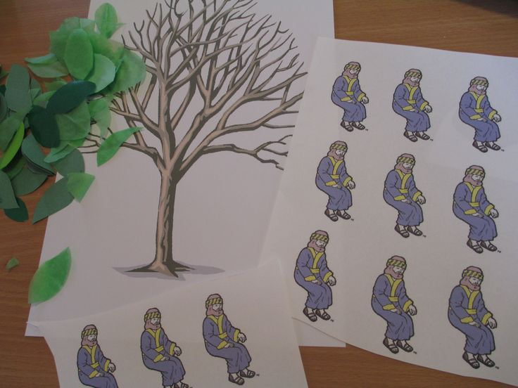Preschool Bible Crafts | Zacchaeus – up in a tree craft | Let their light shine!