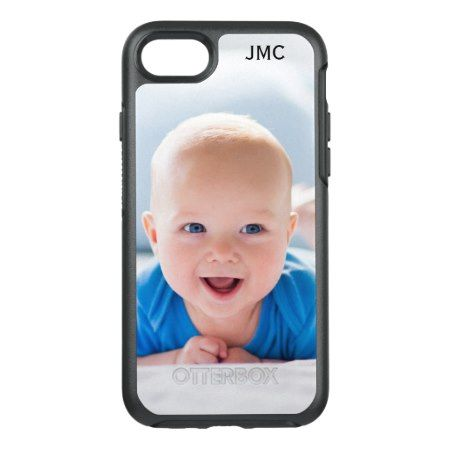 Photo Protective Phone With Monogram OtterBox Symmetry iPhone 7 Case - click/tap to personalize and buy