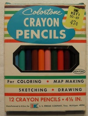 Doesn't everybody use crayons for map making?(early 1960s): Crayons Pencil, Vintage Crayons, Pencil 1940 1950, Vintage Wardrobe, Pencil 19401950, Color Pencil, Child Art, Vintage Art, Art Supplies